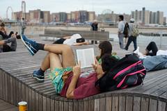 Book (dtanist) Tags: nyc newyork newyorkcity new york city sony a7 contax zeiss carlzeiss carl planar 45mm brooklyn coney island boardwalk steeplechase pier