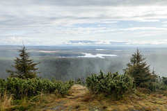 vast expanse (kirill3.14) Tags: ruka autumn lake finland trees trail cloud outdoor hills fall suomi mtb