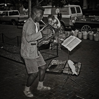 Baritonist Performs Classical Music On The Street,
