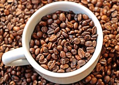 Imagine the smell of freshly roasted caffee :) (Tomek Sz) Tags: caffe good smell morning life fantastic cup brown seeds roasted fresh