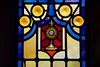 St. Michael - Eucharist in Monstrance Stained Glass (geerlingguy) Tags: jeff geerling stl catholicstl catholic parish saint michael archangel church st louis