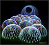 Magic Mushrooms Heading For The Tunnel (bokosphotos) Tags: paintingwithlight domes panasonic panasonicgh3 1235f28lens light christmaslights wheel affinityphoto affinity noctographydomes {tcb} lightpaintingphotography longexposure