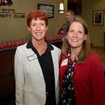 Prof. Kathy Krawczyk, MAC director, with MAC Assistant Director Sara Concini