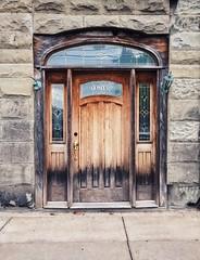 (drain__you) Tags: door wood facade binghamton ny newyork leadedglass came glass window