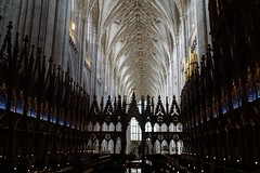 the choir stalls - explored (quietpurplehaze07) Tags: architecture winchestercathedral