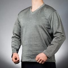 100109-SlashPRO-Slash-Resistant-V-Neck-Long-Sleeve-Sweatshirt-High-Res (PPSS Group) Tags: slash resistant slashresistant