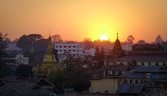 Sunset on downtown of Pyin Oo Lwin, Myanmar (phuong.sg@gmail.com) Tags: alley alleyway architectural architecture asia asian attraction building capital city cultural deck detail famous historic historical iconic landmark mandalay myanmar night observation observatory pagoda panoramic popular pyinoolwin royal sun sunset temple tourism tower town traditional travel view viewpoint village yangon