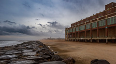 Asbury Park (Dalliance with Light (Andy Farmer)) Tags: jersey stormy beach landscape cloudy boardwalk asburypark water conventionhall sky rocks ocean sand nj shore newjersey unitedstates us