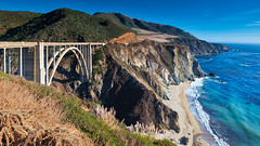 Bixby Creek Bridge (Bob.Z) Tags: monterey california unitedstates us bridge bixbycreekbridge bixbybridge bigsur montereycounty ocean oceanfront seaside shoreline coastline hwy1 highway1 pacific