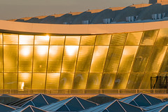 17-6170cr (George Hamlin) Tags: virginia chantilly washington dulles international airport iad saarinen terminal glass golden light sunset glint concrete curves yellow blue structure architecture photo decor george hamlin photography
