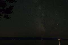 The sky at night (garryfowle) Tags: night stars vancouverisland view washington canada bc olympicmountains