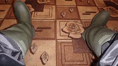 P9081950 (Axelweb) Tags: rainwear raincoat pvc shiny wellies rubber boots gas mask plastenky holinky rainsuit rain suit plastic wellington gumboots galoshes gummi gasmask gloves gay lad man guy overalls coveralls boilersuit chemical chemicalsuit wellingtons leather rubberboots latex