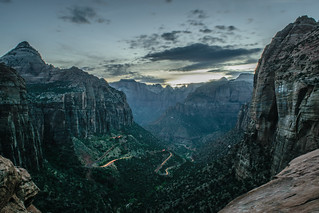 Canyon Overlook After Dusk