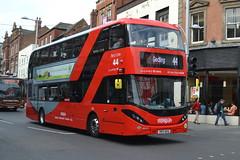 NCT Scania N280UD 410 YP17UFG - Nottingham (dwb transport photos) Tags: nct nottinghamcitytransport scania alexander dennis enviro city bus decker 410 yp17ufg nottingham