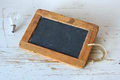 Brown Wooden Frame Beside Clear Bulb (Mr.JamesBaker) Tags: antique blackboard blank board bulb chalkboard empty idea lightbulb retro rustic table vintage wood wooden