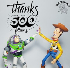 We got 500 followers! Thank you all for the support! I am always willing to receive requests and critiques! Send your!   #Revoltech #buzz #lightyear #buzzlightyear #ToyStory #Andy #Pixar #Disney #ActionFigure #collection #coleção #SuperHero #superheroland (dioxdiegodmf) Tags: collection coleção 500followers thankyou highfive toy superherolanding buzz pixar andy woody lightyear disney sheriff revoltech buzzlightyear disneyanimation farm cowboy toystory superhero friends actionfigure
