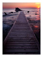Pontile fantasma (Mattia Querci) Tags: pontile fantasma sunset tramonto sea seascape shore coast bay sun waves long exposure