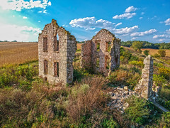 (Daniel000000) Tags: indian lake county park ruins old building wisconsin madison drone dji spark djispark uav photography landscape sky clouds blue fall green farm house farmhouse field autumn cloud sunny colorful