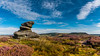 Hathersage Moor (Peter Quinn1) Tags: overowlertor hathersagemoor higgertor moorland heather august peakdistrict contrails