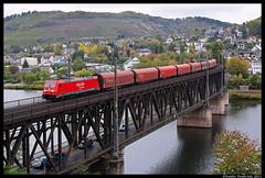 DBS 185 275, Bullay, 19-10-2011 (Sander Zwoferink) Tags: dbs bullay 185 dbs185 dbs185275 185275 moselbrücke moselbrückebullay 19102011 2011 mosel
