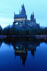 Hogwarts Reflection (brentflynn76) Tags: castle hogwarts harry potter harrypotter lake reflection building wizard twilight night