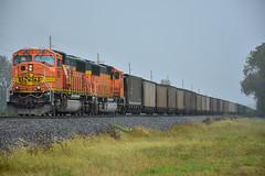 Mac's in the rain. (Machme92) Tags: bnsf burligrton bn railroad railfanning railroads railfans rails rail row railroading railfan emd sd70mac