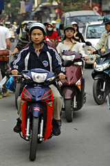 Moped users in Vietnam
