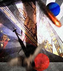 The Feast of Predators  V.5 - The Feast of All Hallows (CatnessGrace) Tags: halloween art collage digitalcollage digitalart mantis praymantis red blue spooky sinister dark creepy