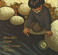 Shin-chi's Canoe (Vernon Barford School Library) Tags: nicolalcampbell nicola l campbell kimlafave kim lafave historical historic history historicalfiction fiction fnmi firstnations nativepeople nativepeoples native aboriginal canadianhistory canadian canada humananimalrelationships residentialschools school schools boardingschool boardingschools children education watersports picturebooks picturebooksforchildren brothers sisters siblings vernon barford library libraries new recent book books read reading reads junior high middle vernonbarford fictional novel novels paperback paperbacks softcover softcovers covers cover bookcover bookcovers 9781773061276