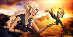 Daenerys with her dragons (meriluu17) Tags: monso daenerys khaleesi got gameofthrones gamesofthrones fantasy mother dragon fantastic surreal people outdoor pet pets motherofdragons jinx