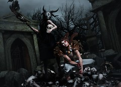063. They're coming to get you... (Jangsungyoung Resident) Tags: secondlife events aii ego egosumaii clavv phedora focusposes dark style fair mad circus salem nightmare