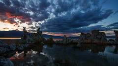 Skyfire (Middle aged Nikonite) Tags: clouds sky sunset landscape outdoor nature mono lake california nikon d750 reflections tufa color skyfire vivid evening water dusk