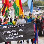 "<b>Homecoming Parade</b><br/> The international students assossiation and allies ISAA celebrated the diversity at Luther College by walking the homecoming 2017 parade. October 7 2017. Photo by Hasan Essam Muhammad<a href=""http://farm5.static.flickr.com/4474/37497560100_da6c176451_o.jpg"" title=""High res"">∝</a>"