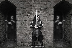 Ghosts of Balor (AlexHarford) Tags: norse ghost armour medieval sword bw clones