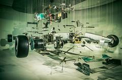 Exploded (neal1973) Tags: car f1 formula one 1 mercedes petronas wheels engine parts mechanical mechanics