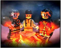 The Donner Party (LegoKlyph) Tags: lego custom horror bricks mini figures cannibalism history 1849 halloween blocks dark meat cooked fire real