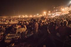 Varanasi - Ganges River - boat - Ganga Aarti prayer-2