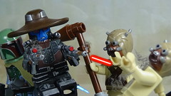 Bounty Hunters in the Desert (Will HR) Tags: lego starwars clonewars bounty hunters cadbane bobafett