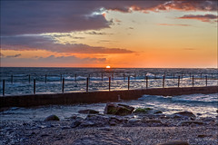 When the sun rises, it rises for everyone (JustAddVignette) Tags: australia beach clouds cloudysunrise dawn landscapes newsouthwales newport northernbeaches ocean rockpool rocks seascape seawater sky sunrise sydney water waves