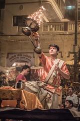 Varanasi - Ghats - Ganga Aarti prayer-4