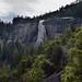 Nevada Fall and a Valley Below (Yosemite National Park)