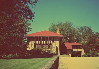 Taliesin Home Studio School  - Frank Lloyd Wright  Estate - East -  Historic
