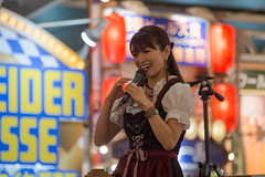 Ms. Beer (kasa51) Tags: people woman mascotgirl octoberfest yokohama japan オクトーバーフェスト横浜 dirndl oktoberfest