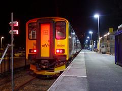 150246 St Ives (4) (Marky7890) Tags: gwr 150246 class150 sprinter 2a49 stives railway cornwall stivesbayline train night