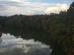 Rocky River Reflections (cliffordswoape) Tags: beauty usa middle tennessee warrencounty vanburencounty fall autumn riverbanks trees clouds sky reflections river rockyriver