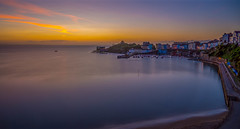 Photo of Tenby Harbour, all calm waiting for the sunrise!
