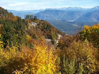 Blick vom Mendelpass auf die Dolomiten