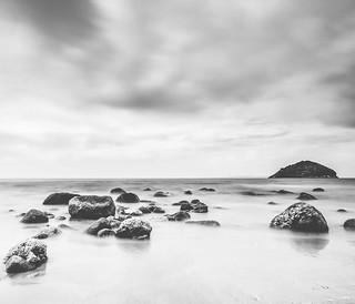 Monochrome on the Beach