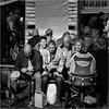 Happy hour (John Riper) Tags: johnriper street photography straatfotografie square vierkant bw black white zwartwit mono monochrome netherlands candid john riper rotterdam fuji fujifilm xt2 18135 blaak people bored lunch snacking week marked quinny perambulator pram