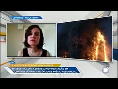 Hoje em Dia conversa com brasileira que mora em Londres sobre incêndio em prédio (portalminas) Tags: hoje em dia conversa com brasileira que mora londres sobre incêndio prédio